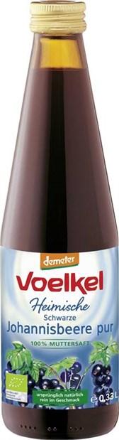 BIO sok črnega ribeza 100% Voelkel 0,33l