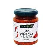 BIO paprika v koščkih v omaki Greenfood 260g