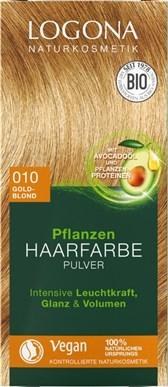 BIO barva za lase Logona blond zlata 010 100g