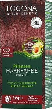 BIO barva za lase mahagonij rjava 050 Logona 100g