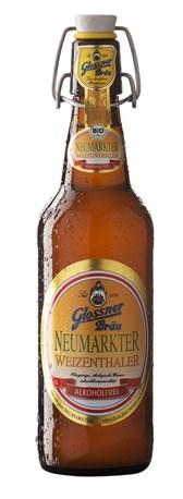 BIO brezalkoholno pšenično pivo Neumarkter Glossner 0,5l