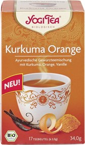 Čaj kurkuma pomaranča Yogi Tea 2,0x17g