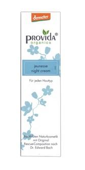 Demeter krema nočna za obraz Jeunesse Provida Organics 50ml
