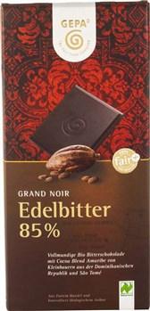BIO čokolada Grand Noir 85% GEPA 100g