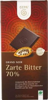 BIO čokolada Grand Noir 70% GEPA 100g