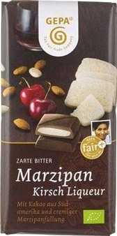 BIO čokolada marcipan in češnjev liker GEPA 100g