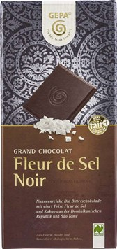 BIO čokolada Fleur de Sel Noir GEPA 100g