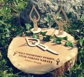 Svečka lesena za zapik Domendizajn 1 kos