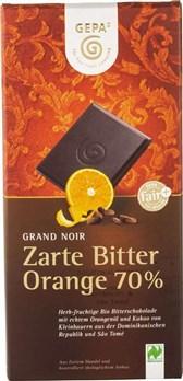 BIO temna čokolada s pomarančo Gepa 100g