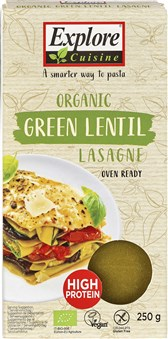 BIO testenine za lazanjo iz zelene leče brez glutena Explore Cuisine 250g