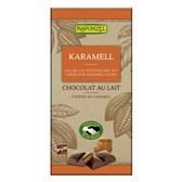 BIO mlečna čokolada s karamelnim polnilom Rapunzel 100g