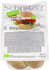 BIO žemljica za hamburger brez  glutena Schnitzer 250g
