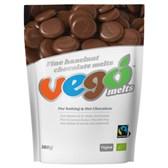 Bio čokoladne lešnikove kapljice VEGO 180 g