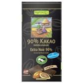 Bio temna čokolada z 90% kakava  Rapunzel 80g