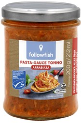 Bio omaka s tuno za Arrabiata testenine followfish 200g