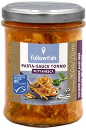 Bio omaka s tuno za Puttanesca testenine followfish 200g