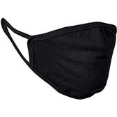 Pralna zaščitna maska za obraz bombaž črna