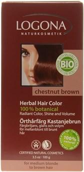 Barva za lase kostanjevo rjava Logona 100 g