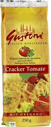 BIO paradižnikovi krekerji z origanom Gustoni 250g
