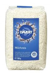 BIO riž Davert mlečni, beli, okroglozrnati 500g